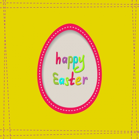 yellow Easter greeting card Stock Vector - 18003342