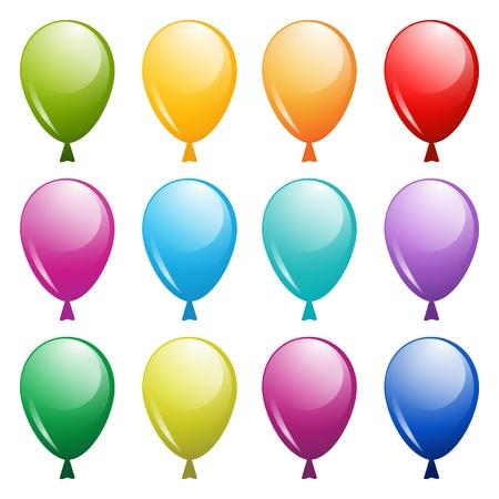 set of bright balloons Stock Vector - 18148198