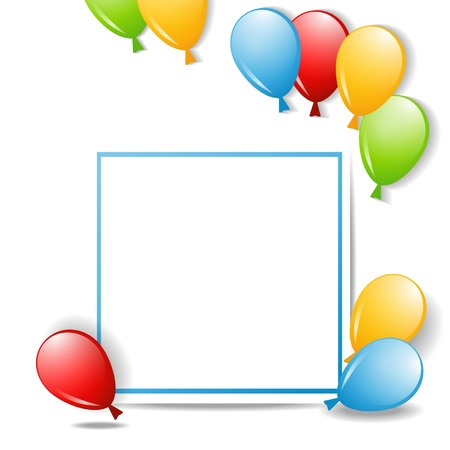 a paper frame with balloons Stock Vector - 18148192