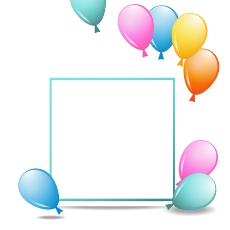 a paper frame with balloons Stock Vector - 18178498