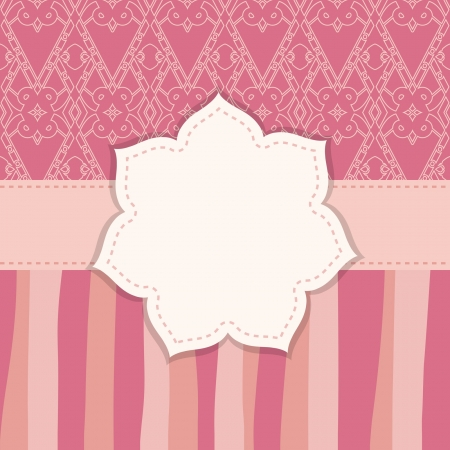 bridal shower: pink greeting card Illustration