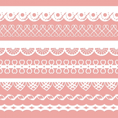 set of laces for scrapbooks Vector