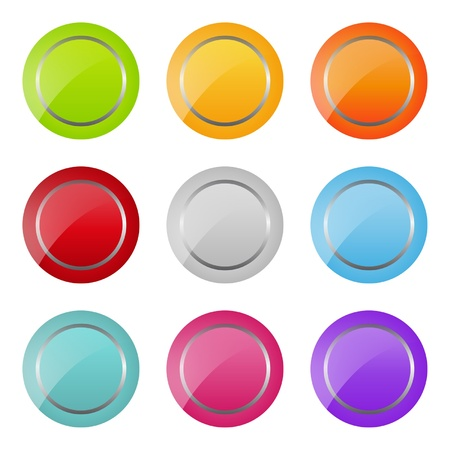 set of bright round buttons Vector
