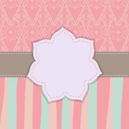 retro greeting card Иллюстрация