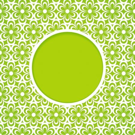 veters: groene frame met een bloempatroon