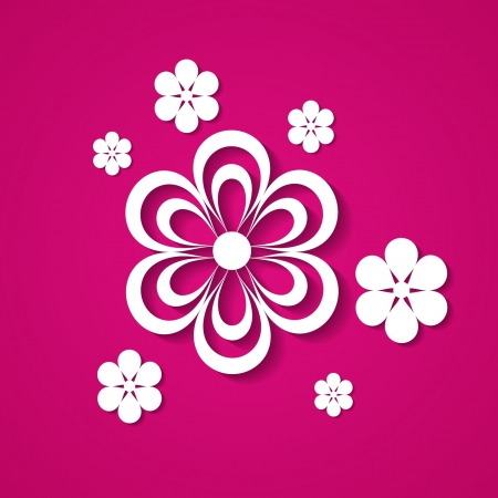 pink backrgound with flowers Stock Vector - 18710439