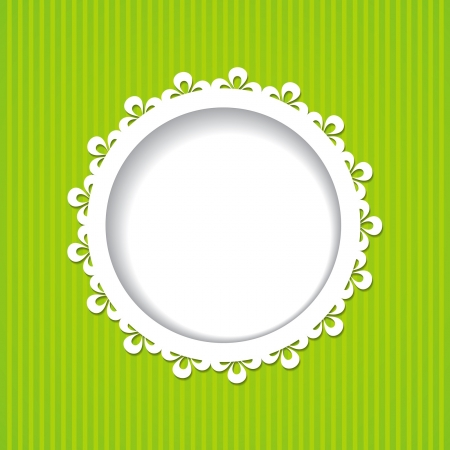 lacy frame on the green background Vector