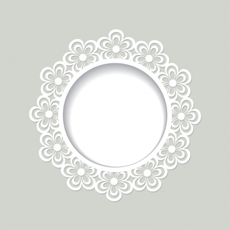 cut flowers: lacy floral frame Illustration