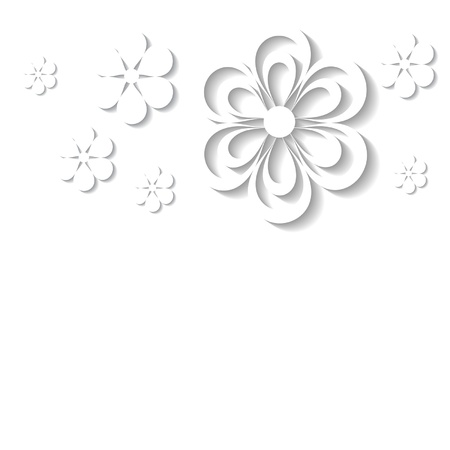 white background with a floral border Stock Vector - 18762927