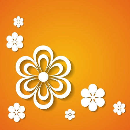 orange floral greeting card Stock Vector - 18762950