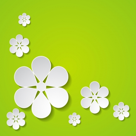 green floral greeting card Vector