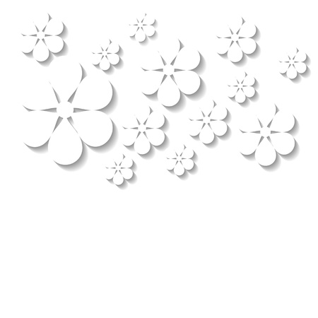a border of paper flowers Stock Vector - 18762934