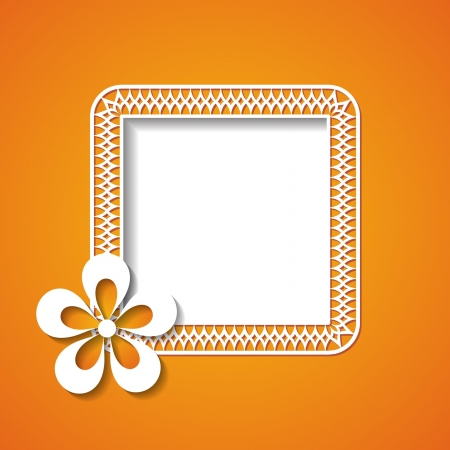 orange frame Stock Vector - 18762940