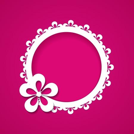 lace frame: pink frame