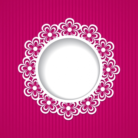 pink floral frame Stock Vector - 18762918
