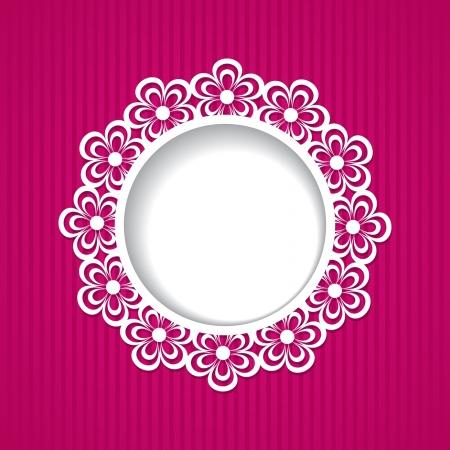 wedding photo frame: rosa cornice floreale