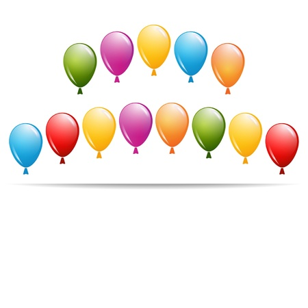greeting card with a group of balloons Stock Vector - 18762929