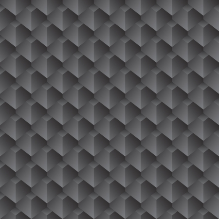 black 3d seamless wallpaper Vector