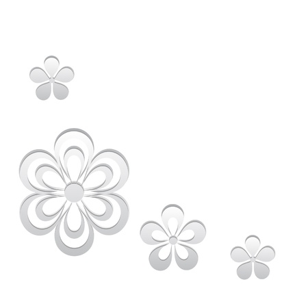 white floral background Stock Vector - 18929959