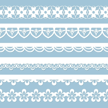 cute border: set di lacci floreali Vettoriali