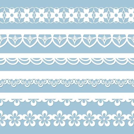 set of floral laces 向量圖像