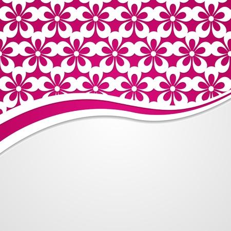 pink floral background Vector