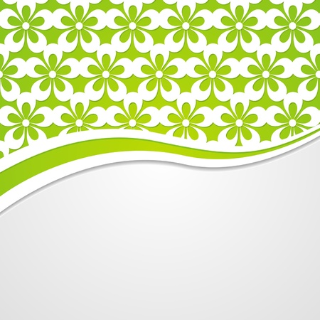 background with a floral border