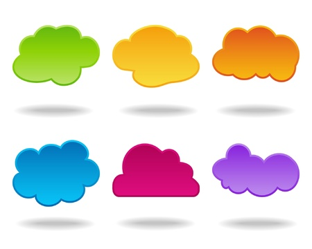 colorful clouds Vector