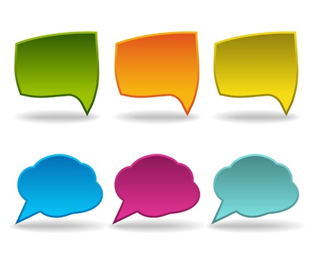 bright speech bubbles Vector