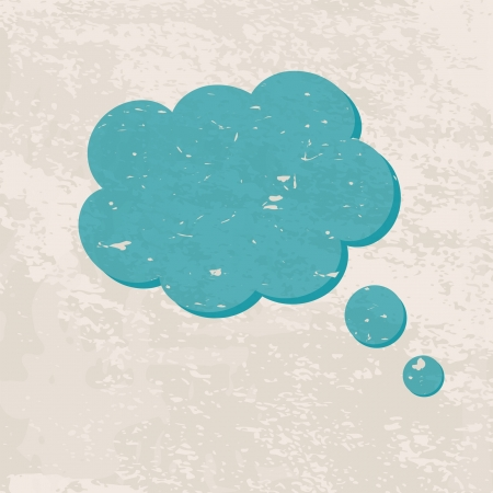retro background with a cloud Stock Vector - 19354317