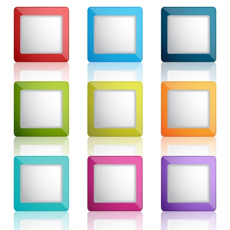 set of web buttons or frames