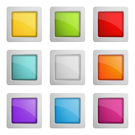 square buttons: set of web buttons or frames