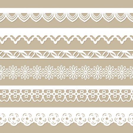 seamless paper laces for scrapbooks Vector