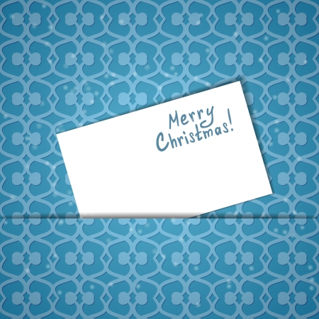 Christmas card with a sheet of paper