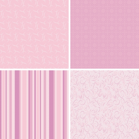 pink patterns Vector