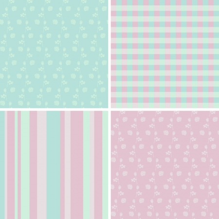 wrapping paper: set of seamless patterns