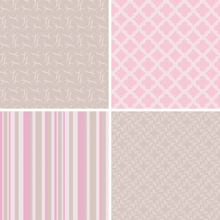set of pastel patterns Vector