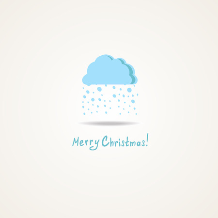 Christmas card with a cloud and snow Vector