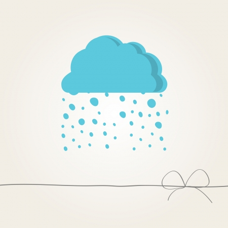background with a cloud Vector