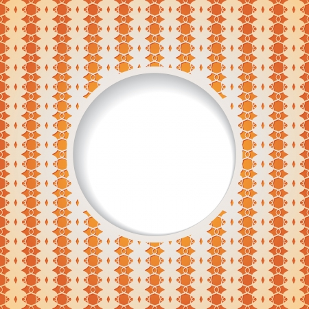 orange background with a round frame Vector