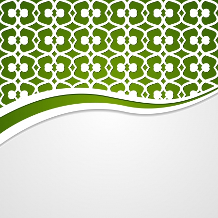 new year border: Background with a green patterned header
