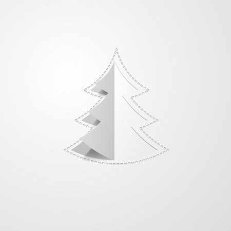 new year tree: holiday background with a paper Christmas tree