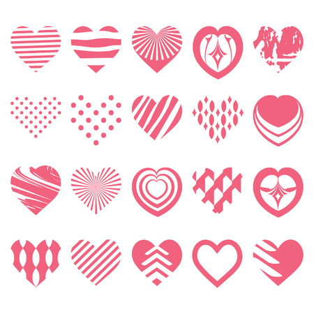 set of hearts Stock Vector - 23836174