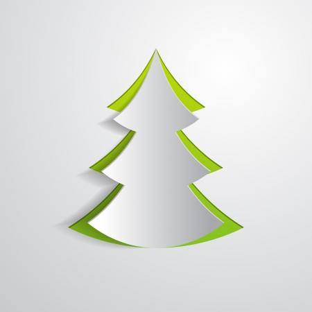 spar: dennenboom gesneden in papieren