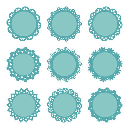 doilies: set of lacy frames Illustration