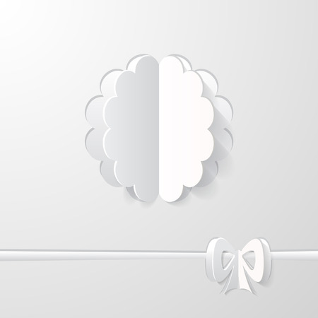 white wedding background Vector