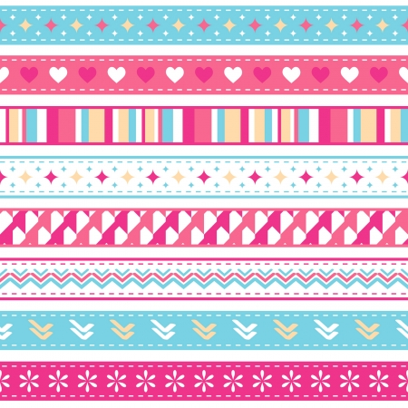 bright seamless holiday ribbons Vector