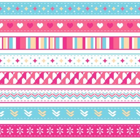 bright seamless holiday ribbons