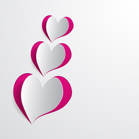 background with cut hearts Illustration