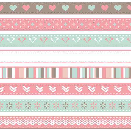 Valentines ribbons Vector